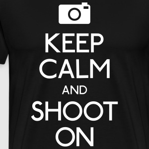 Keep Calm an Shoot on calmer une pousse Tee shirts - T-shirt Premium Homme
