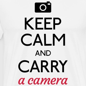 keep calm and camera T-Shirts - Men's Premium T-Shirt