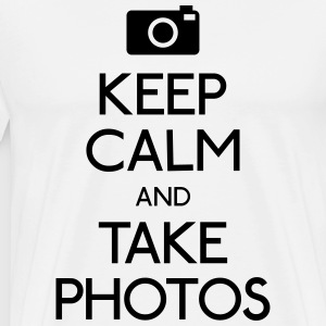 Keep Calm and take photos T-Shirts - Men's Premium T-Shirt