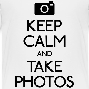 Keep Calm and take photos rester calme et prendre des photos Tee shirts - T-shirt Premium Enfant