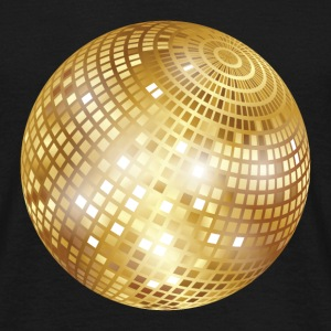 Disco Ball / Mirror Glitter (Gold, PNG) T-Shirt - Men's T-Shirt