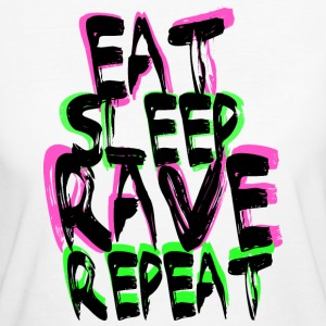 Rave Repeat Tee shirts - T-shirt Bio Femme