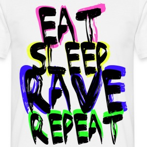 Rave Repeat T-shirts - Mannen T-shirt