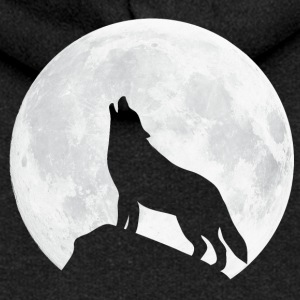 Howling Wolf - Moon Hoodies & Sweatshirts - Women's Premium Hooded Jacket
