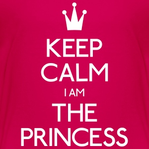 keep calm princess houden kalm prinses Shirts - Kinderen Premium T-shirt