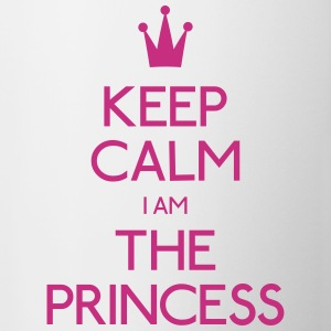keep calm princess houden kalm prinses Flessen & bekers - Mok