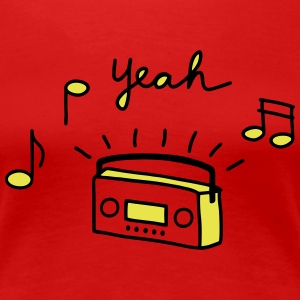 Tape Radio Yeah - V2 T-Shirts - Frauen Premium T-Shirt