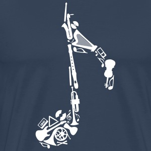 Notes of musical instruments  T-Shirts - Men's Premium T-Shirt