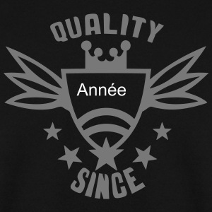 ajouter annee quality since logo anniver Sweat-shirts - Sweat-shirt Homme