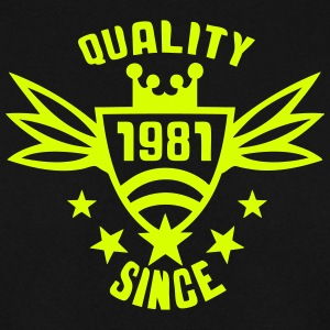 1981 Jahre quality since logo Pullover & Hoodies - Männer Pullover