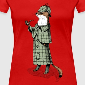Rood Stoat detective T-shirts - Vrouwen Premium T-shirt
