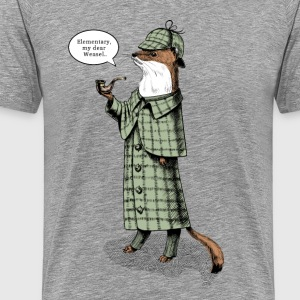 Stoat Detective - quote T-Shirts, based on the character Sherlock Holmes - Men's Premium T-Shirt