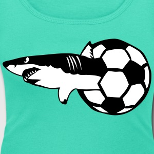 football logo requin sport club 2402 Tee shirts - T-shirt col rond U Femme