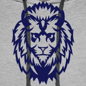 lion animal sauvage 2402 Sweat-shirts - Sweat-shirt à capuche Premium pour hommes