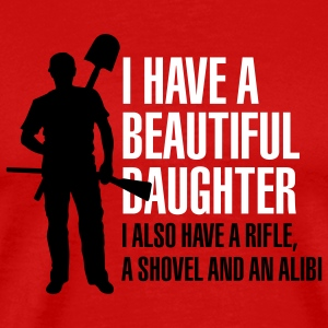 I have a beautiful daughter T-shirts - Mannen Premium T-shirt