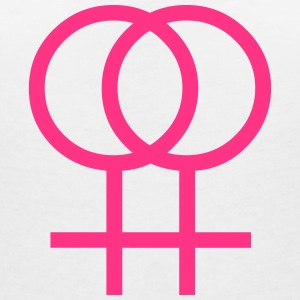 lesbian, girls only T-Shirts - T-skjorte med V-utsnitt for kvinner