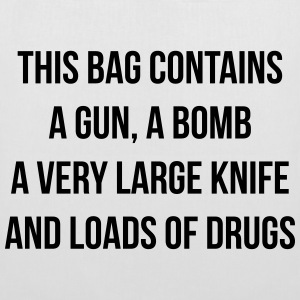 This bag contains a gun Bags & Backpacks - Tote Bag