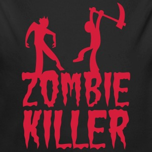 ZOMBIE KILLER with guy killing a zombie Hoodies - Longlseeve Baby Bodysuit