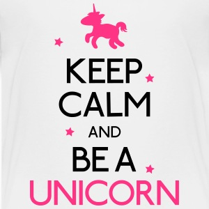 keep calm and be a unicorn Shirts - Kids' Premium T-Shirt