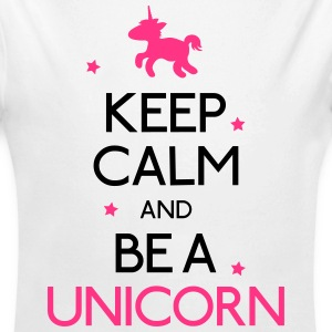 keep calm and be a unicorn mantenere la calma ed essere un unicorno Felpe - Body ecologico per neonato a manica lunga