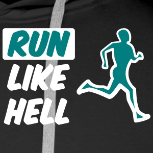 run_like_hell_bicolour cool design Sweaters - Mannen Premium hoodie