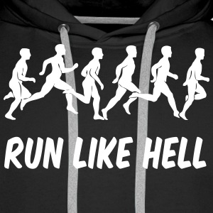 running_run_like_hell Sweaters - Mannen Premium hoodie