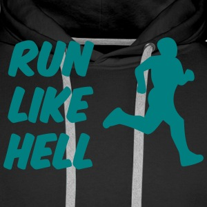 run_like_hell cool logo Sweaters - Mannen Premium hoodie