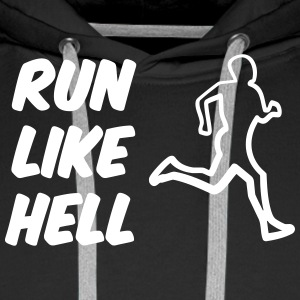 run_like_hell Sweaters - Mannen Premium hoodie