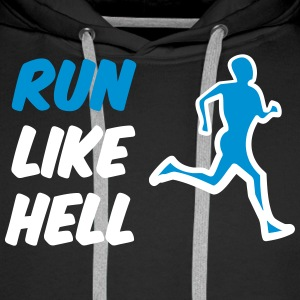 run_like_hell_bicolour Sweaters - Mannen Premium hoodie