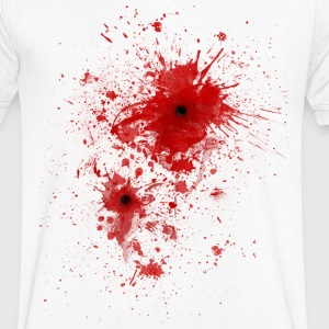 Blood spatter / bullet wound - Costume  T-Shirts - Men's V-Neck T-Shirt