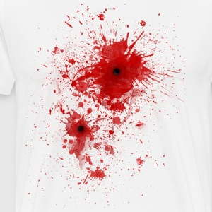 Blood spatter / bullet wound - Costume  Tee shirts - T-shirt Premium Homme