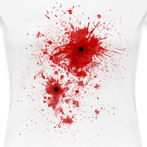 Blood spatter / bullet wound - Costume  T-Shirts - Frauen Premium T-Shirt