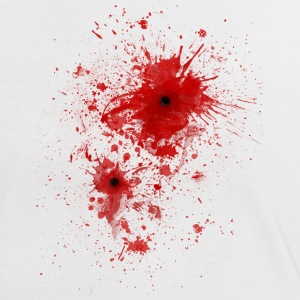 Blood spatter / bullet wound - Costume  T-Shirts - Women's Ringer T-Shirt