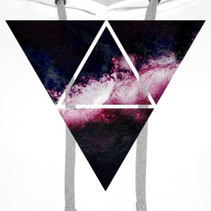 triangle galaxy driehoek galaxy Sweaters - Mannen Premium hoodie