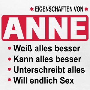 anne T-Shirts - Frauen Premium T-Shirt