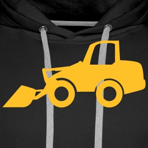 Wheel Loader Hoodies & Sweatshirts - Men's Premium Hoodie