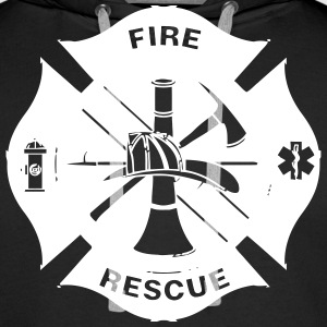 fire department Sweaters - Mannen Premium hoodie