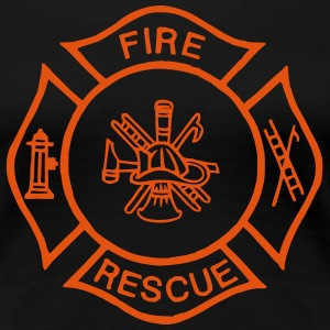 fire rescue  T-shirts - Vrouwen Premium T-shirt