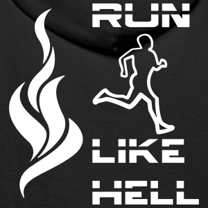 run_like_hell_fire Sweaters - Mannen Premium hoodie