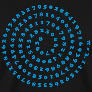 Mathematics math Pi π spiral irrational number  T-Shirts - Men's Premium T-Shirt