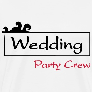 Wedding Party Crew T-shirts - Herre premium T-shirt