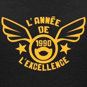 1990 annee anniversaire excellence logo Tee shirts - T-shirt col V Femme