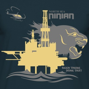 Ninian Oil Rig Platform North Sea Aberdeen. - Men's T-Shirt