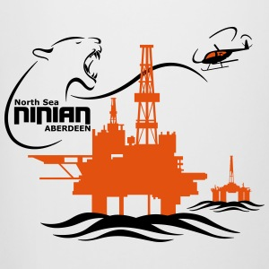 Ninian Oil Rig Platform North Sea Aberdeen - Beer Mug