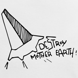 Destroy mother earth! - Frauen Kontrast-T-Shirt