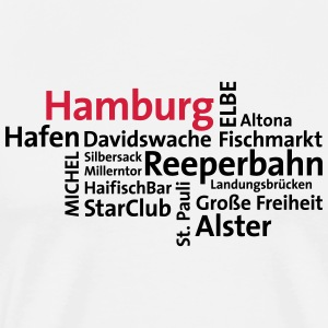 Hamburg tag cloud - Männer Premium T-Shirt