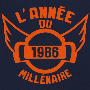 1986 annee anniversaire millenaire logo Tee shirts - T-shirt Homme col V