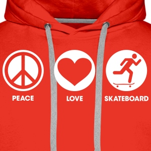 Peace Love Skateboard Sweat-shirts - Sweat-shirt à capuche Premium pour hommes