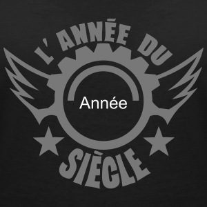 ajouter date anniversaire annee siecle Tee shirts - T-shirt col V Femme