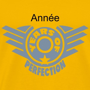 addieren Jahr years perfection 4 logo T-Shirts - Männer Premium T-Shirt